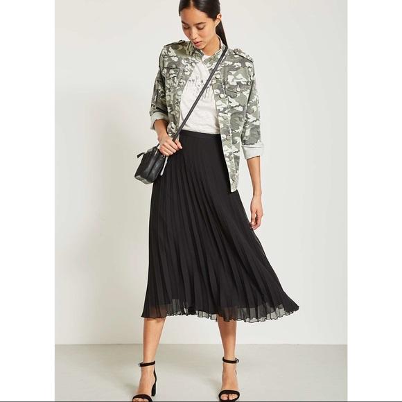Oak + Fort Chiffon Pleated Skirt